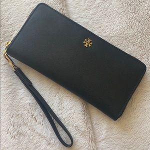 Tory Burch Leather Wallet with Wrist Strap